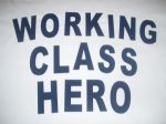 WOMENS JOHN LENNON `WORKING CLASS HERO` T-SHIRT